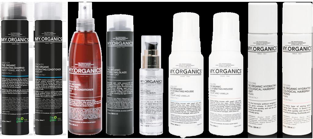 HYDRATING LINE: linea di prodotti per capelli secchi, stressati e danneggiati - MY.ORGANICS
