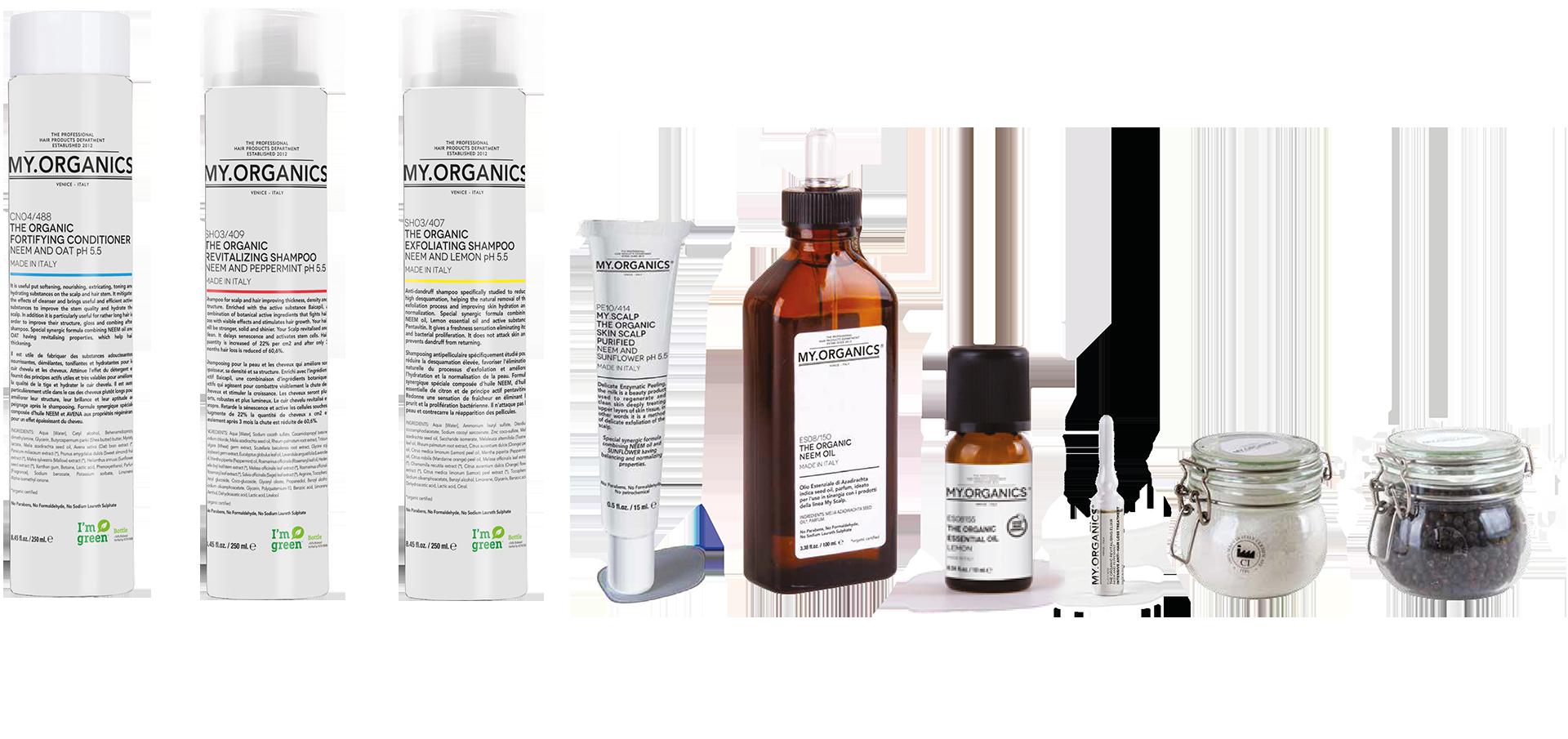 MY.SCALP LINE: linea tricologica per la cura dei capelli e del cuoio capelluto - MY.ORGANICS