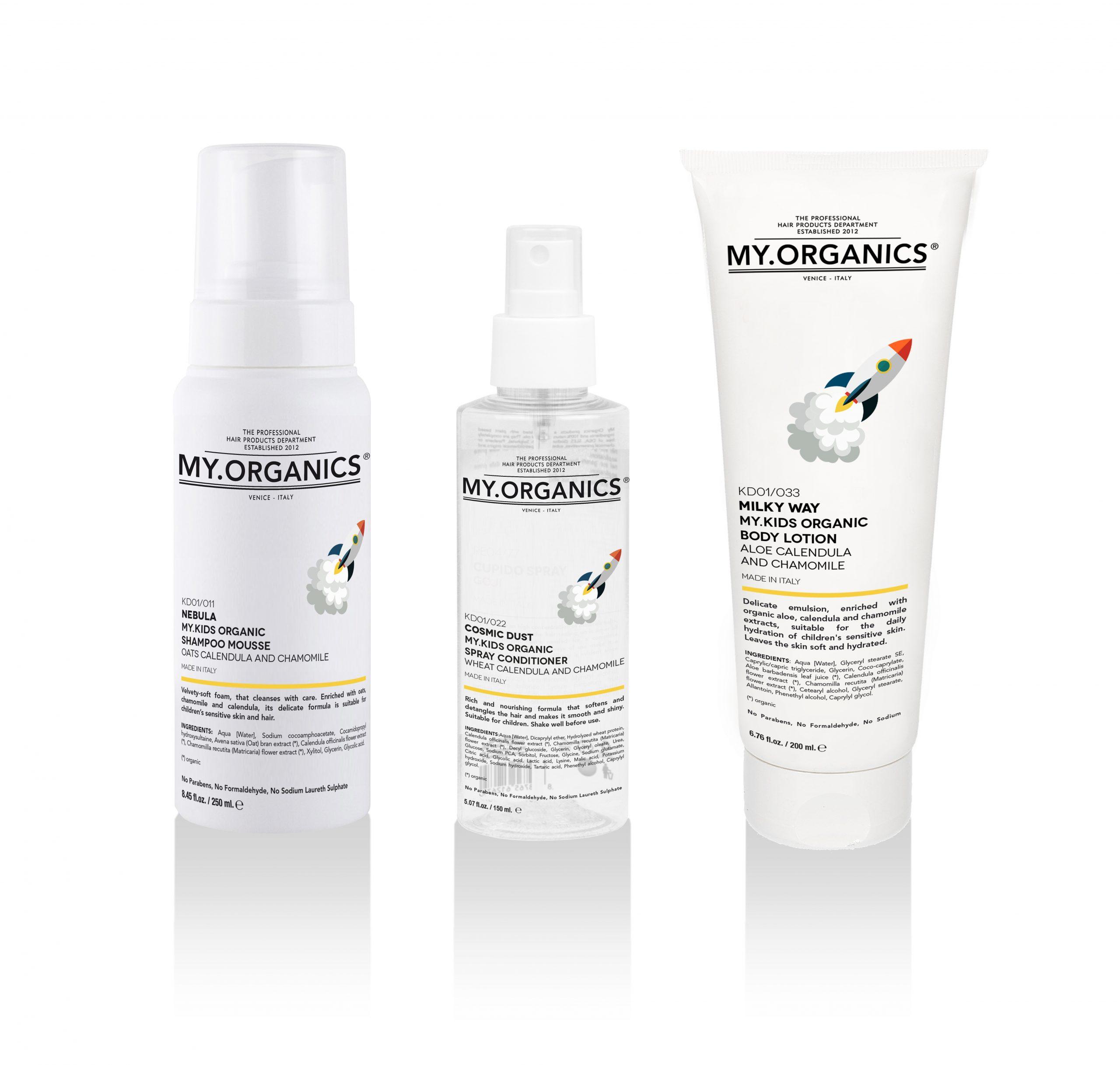 MY.KIDS LINE: linea di prodotti delicati per la cura e bellezza della pelle e capelli dei bambini - MY.ORGANICS