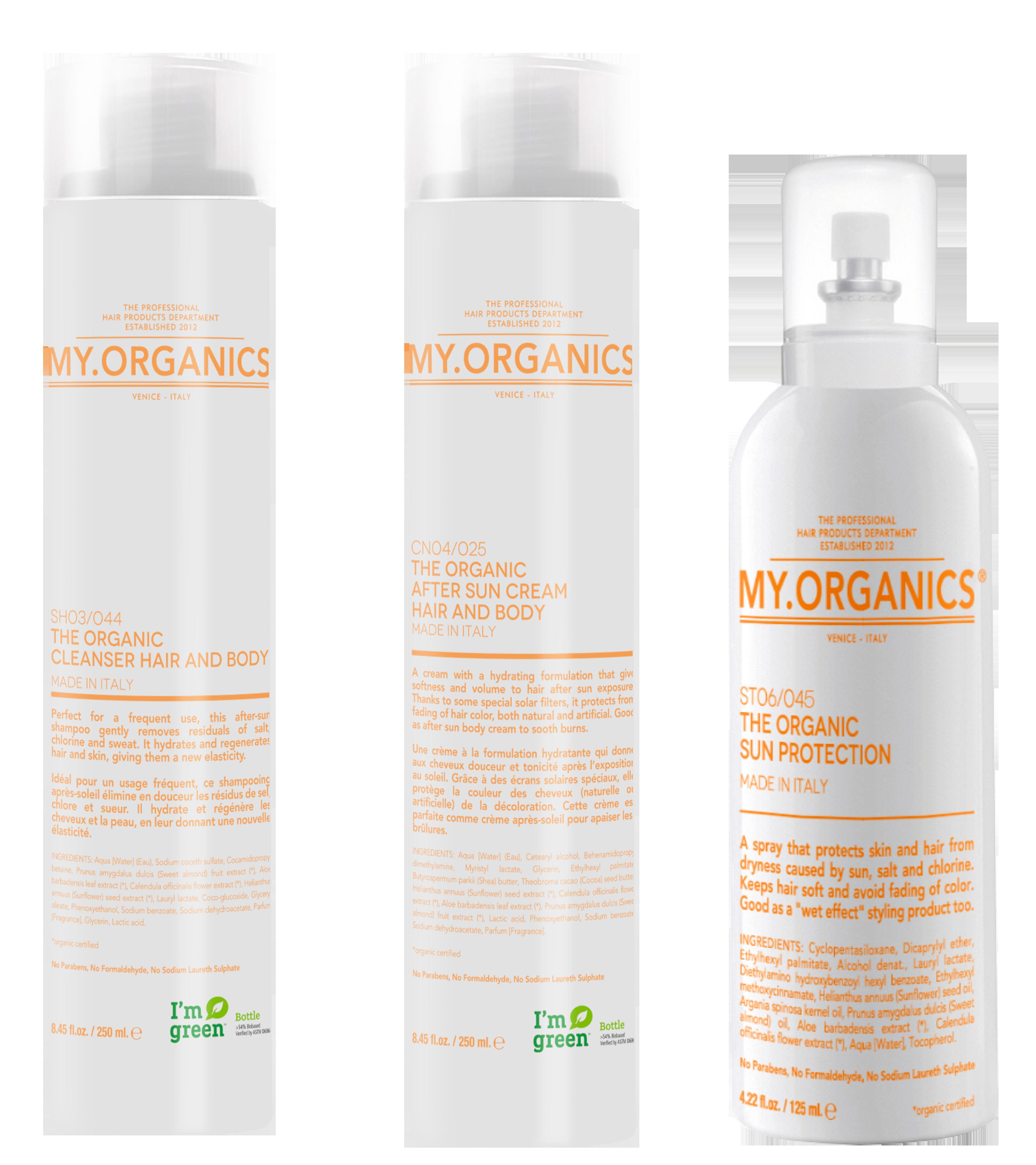 MY.TAN LINE: linea di prodotti per proteggere i capelli anche d'estate - MY.ORGANICS