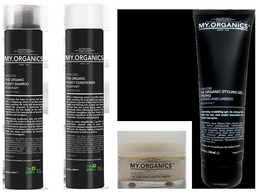 PURIFY LINE: linea di prodotti per contrastare la caduta dei capelli - MY.ORGANICS