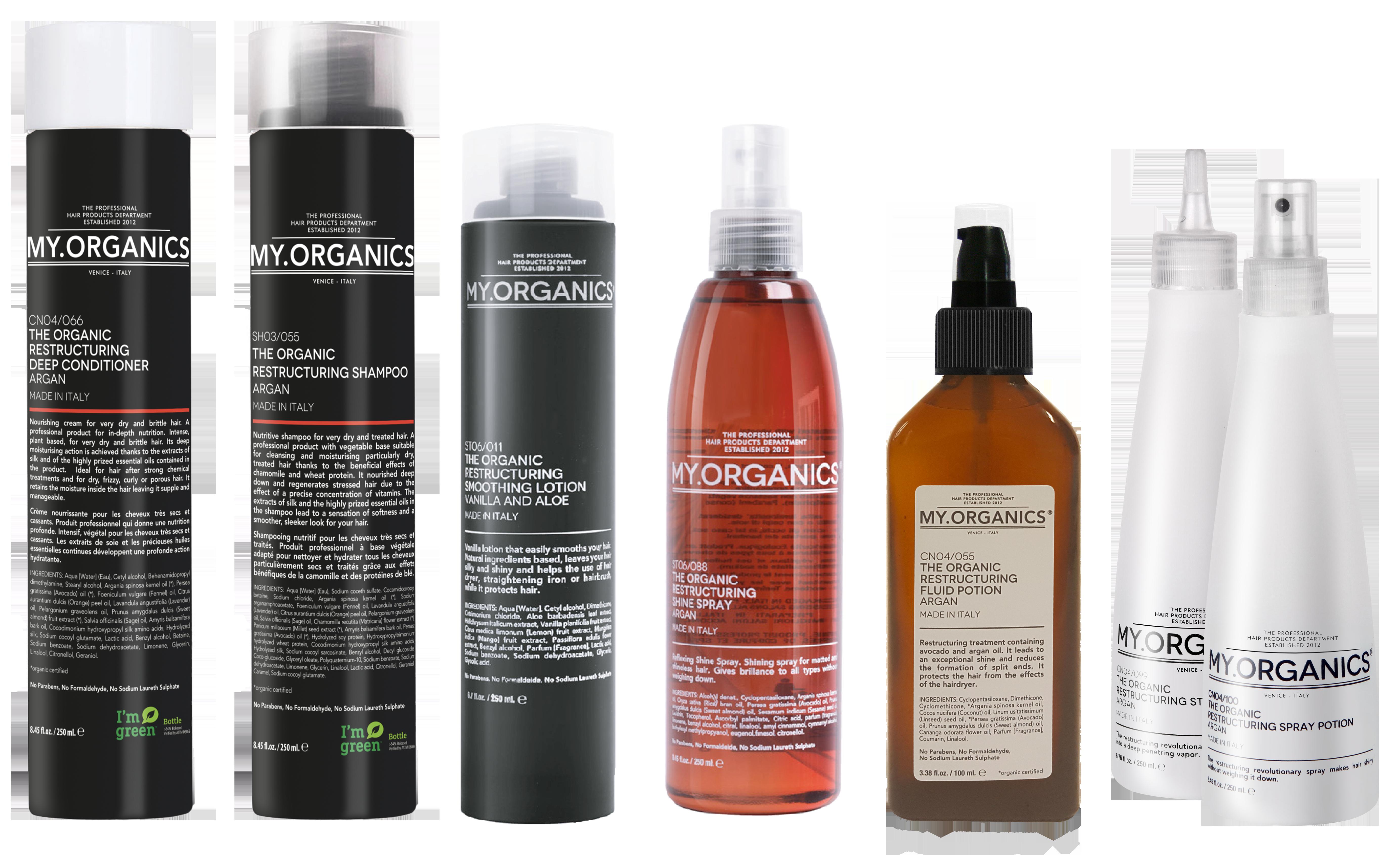 RESTRUCTURING LINE: linea di prodotti per la cura e bellezza dei capelli secchi e trattati - MY.ORGANICS